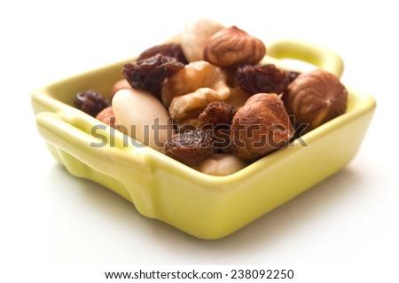 appetizer assortment on white background - stock photo