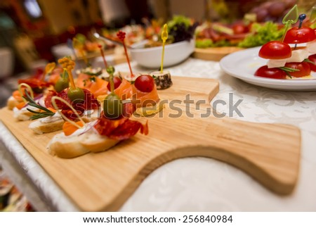 Appetizer on the table - stock photo