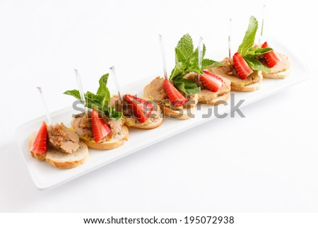 appetizer with strawberry