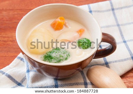 Appetizing cream stew