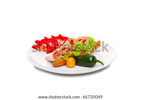 Appetizing dish of bacon and vegetables