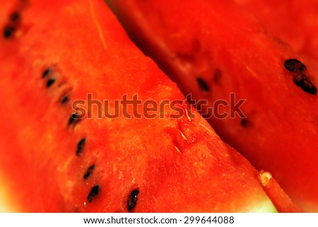 Appetizing slices of watermelon close up - stock photo