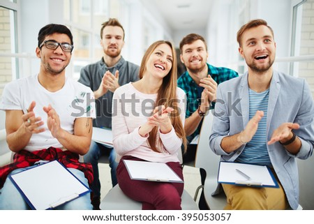 Applauding after lecture