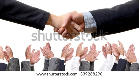 Applause for handshaking