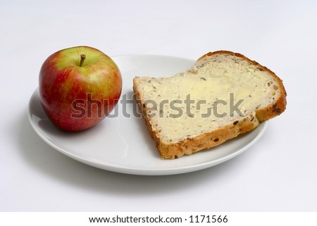 apple and bread