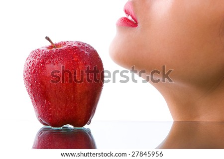 Apple and healthy face skin