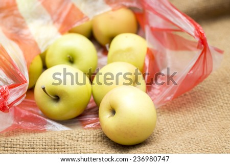 apple background bag rag