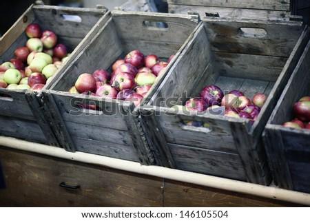 apple box - stock photo