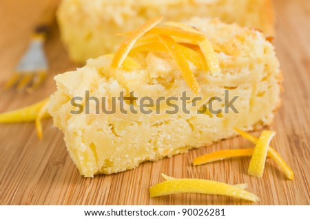 Apple cake. - stock photo