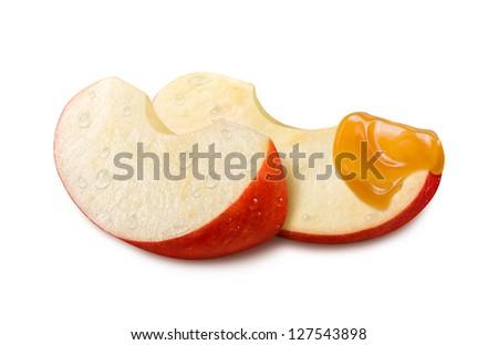 Apple Caramel isolated on white background - stock photo