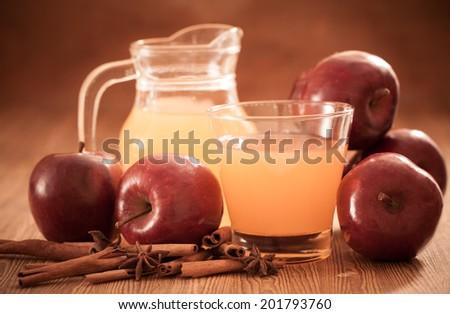 Apple cider vinegar,Healthy drink-Filtered Image - stock photo