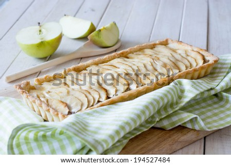 Apple Cinnamon tart selective focus - stock photo