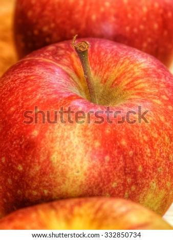 apple close up - stock photo