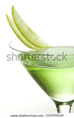 Apple cocktail - stock photo