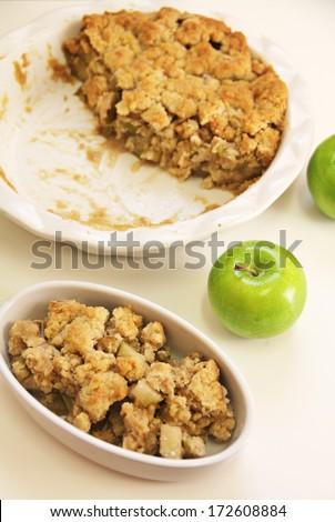 apple crisp vertical plain - stock photo
