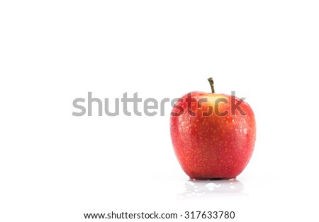 Apple Fresh with isolate background.
