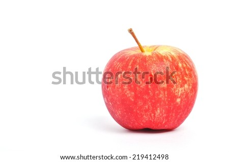 Apple Fruit And Water Dew Drops On