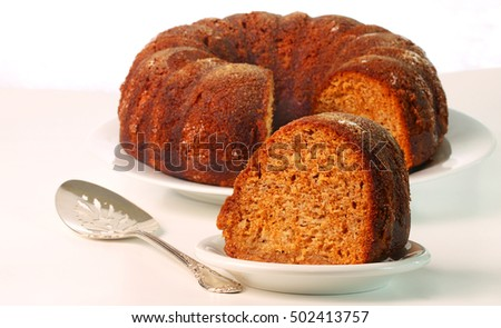 Apple honey cake baked with vegetable oil instead of butter