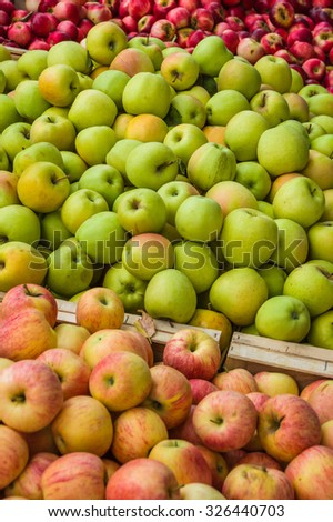 Apple in a market in Provence, France