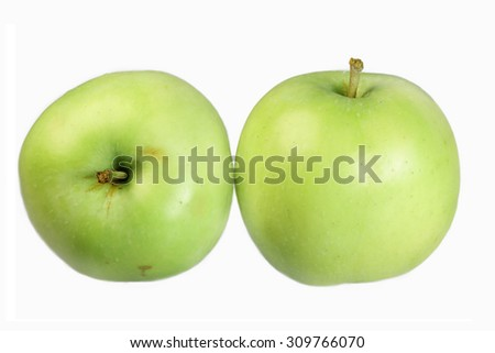 Apple is isolated on a white background - stock photo