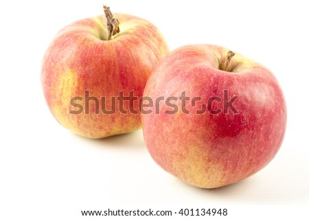 Apple isolated on a white background - stock photo