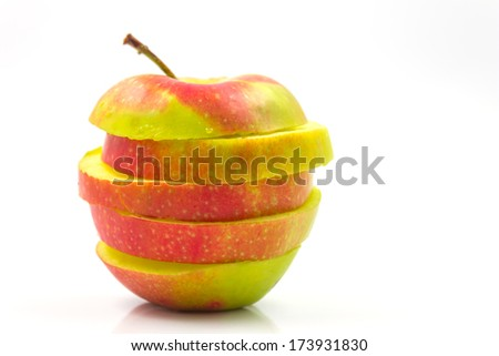 Apple isolated on white backround