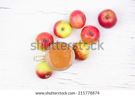 Apple juice and apple - stock photo