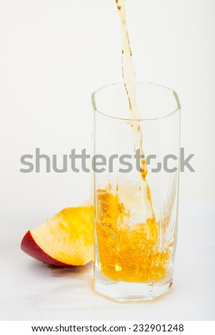 apple juice in a glass - stock photo