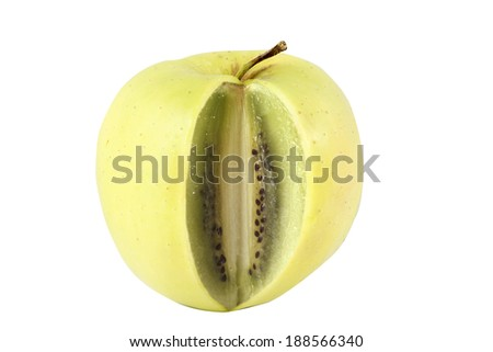 Apple kiwi Hybrid - stock photo