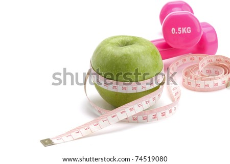 Apple, measuring type and dunbbell