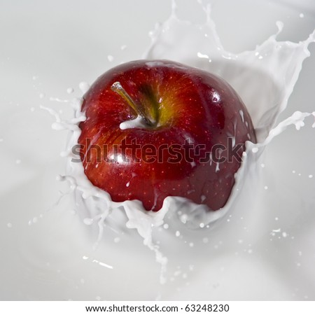 Apple&Milk - stock photo