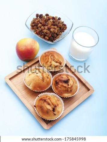 apple muffin  - stock photo