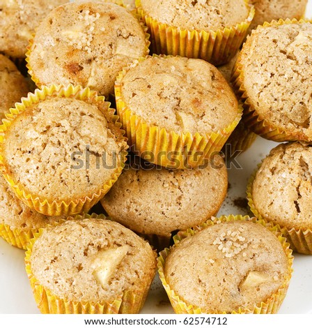 apple muffins with cloves and cinnamon
