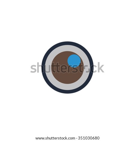 Apple of the eye. Colorful pictogram symbol on white background. Simple icon