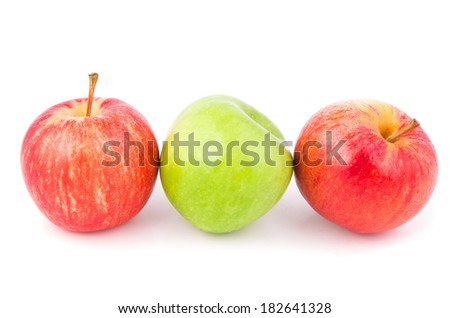 apple on a white background isolated - stock photo