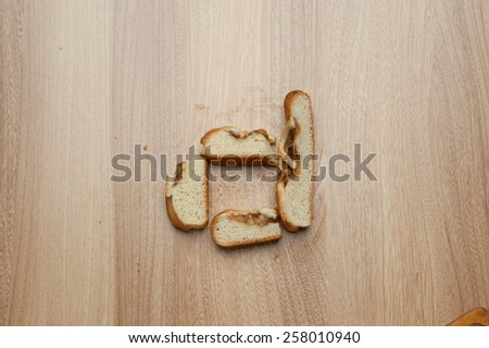 Apple pie, baking, yaboki cinnamon, light wood table top letters of food text - stock photo