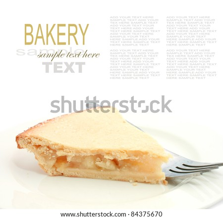 Apple Pie on a white background - stock photo