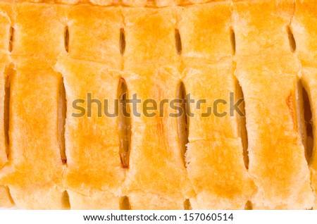 Apple pie texture - stock photo