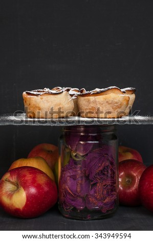 Apple puff rolls with apricot jam - stock photo