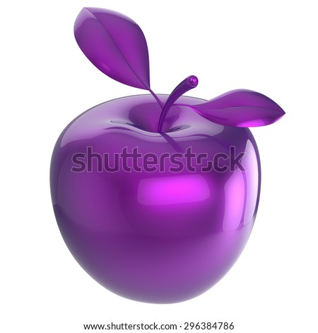 Apple Purple Blue Research Experiment Food Stock Illustration - 3d rendered experimental artworks