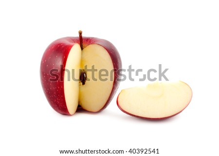 apple red isolated on white - stock photo