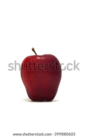Apple set against a white background
