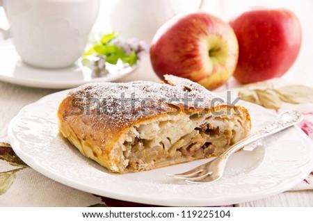 apple strudel - stock photo