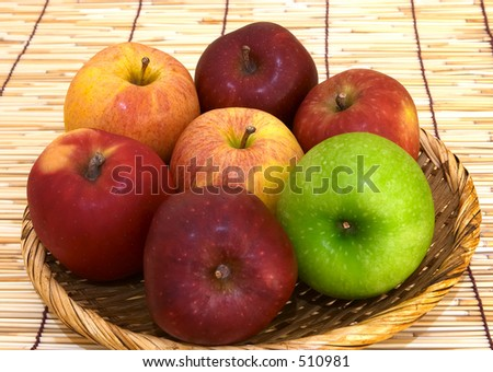 Apple varieties: Granny Smith, Pacific Rose, Red Delicious and Royal Gala