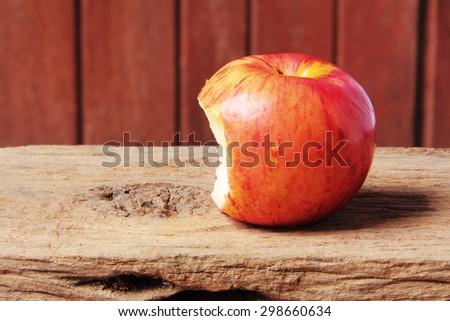 apple with bite - stock photo