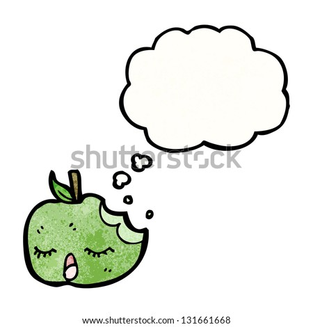 apple with thought bubble