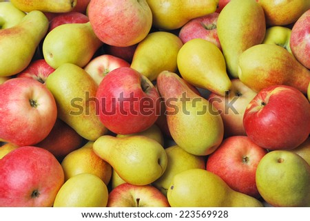 Apples and pears - stock photo