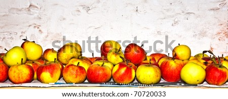 apples are stored in the cellar to keep fresh - stock photo