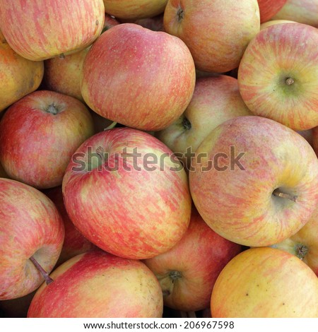 apples as background - stock photo