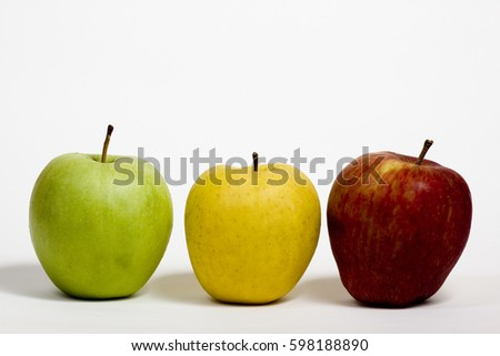 Apples colored